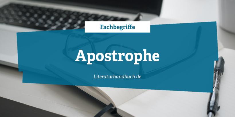 Fachbegriffe - Apostrophe