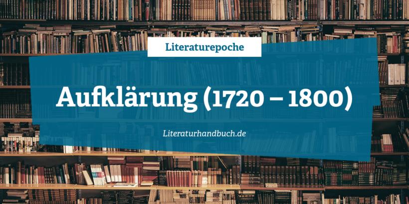 Literaturepoche - Aufklärung