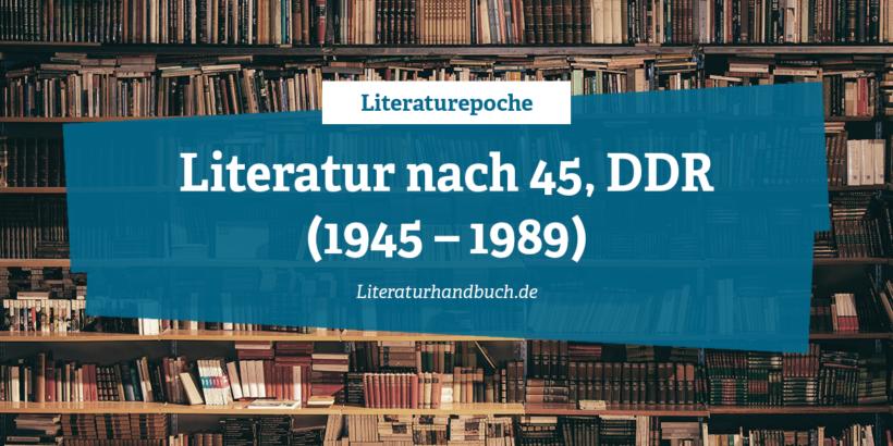 Literaturepoche - DDR