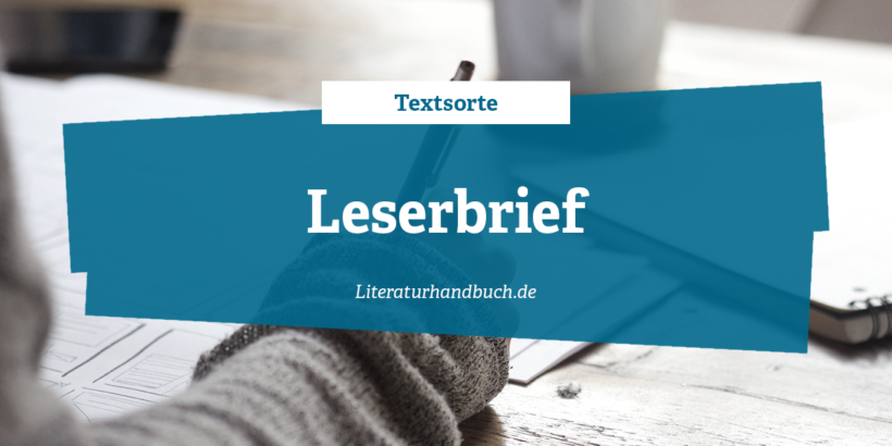 Textsorte - Leserbrief