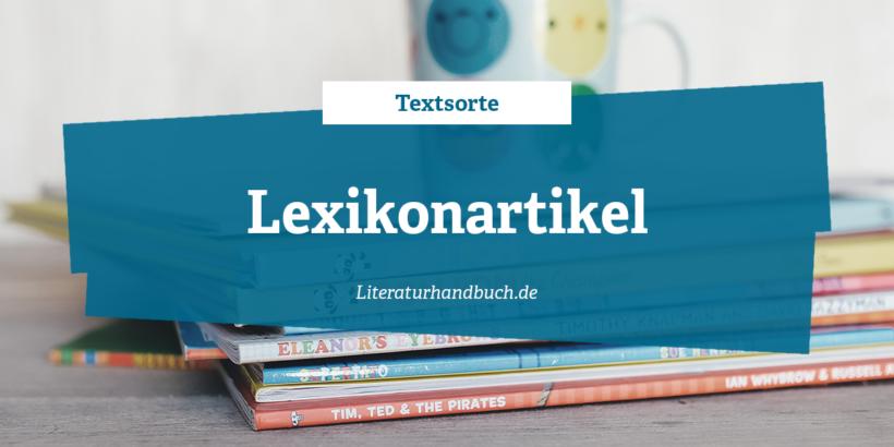 Textsorte Lexikonartikel