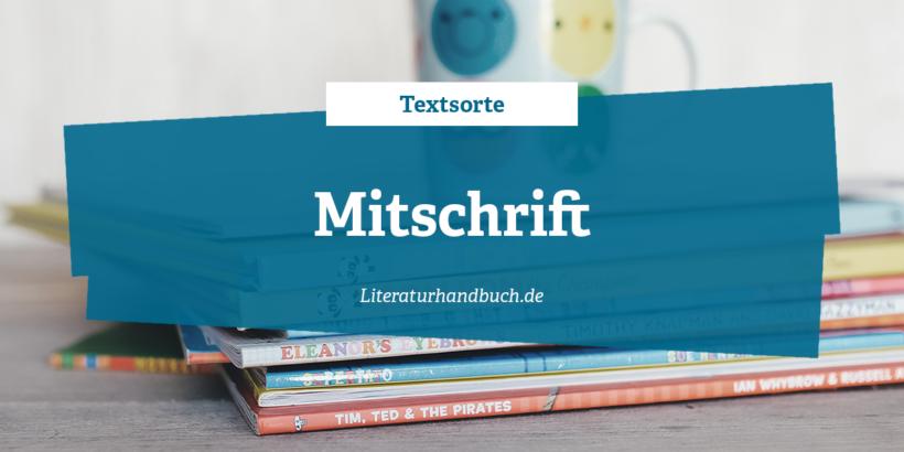 Textsorte - Mitschrift