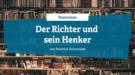 Rezension - Der Richter und sein Henker von Friedrich Dürrenmatt